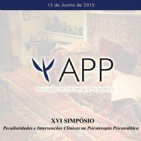 XVI Simpósio - Peculiaridades e Intervenções Clínicas na Psicoterapia Psicanalítica